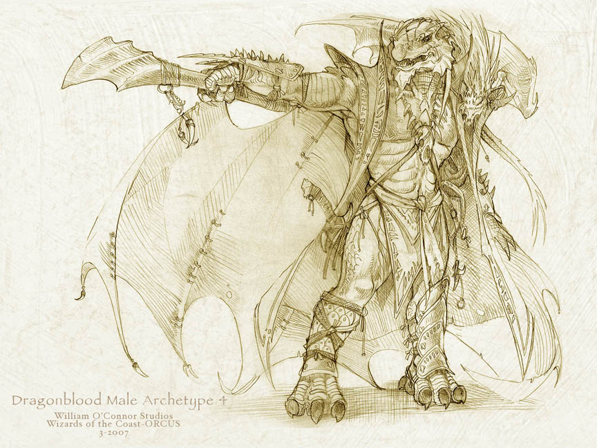 Dragonborn concept by William O'Connor